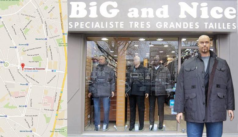 c115680d153aed Vêtements Grandes Tailles, Magasin sur Paris ouvert du Mardi au Samedi -  Big and Nice, Vetements Grandes Tailles